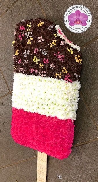 Ice Lolly Funeral Tribute   Designer Flowers by Rodgers