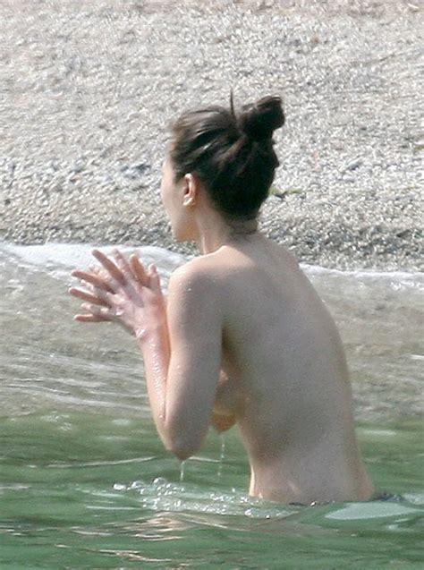 China Chow Goes Topless At The Beach (28 Photos) | #