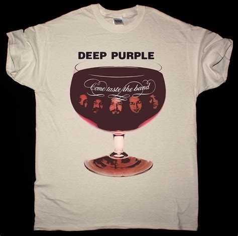 DEEP PURPLE COME TASTE THE BAND 1975 NEW NATURAL T-SHIRT