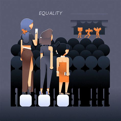 Equality vs Equity animated on Behance