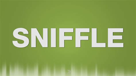 Sniffle SOUND EFFECT - Schniefen SOUNDS - YouTube
