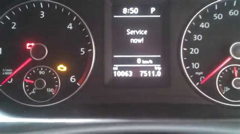 How to reset service message on a vw touran - YouTube