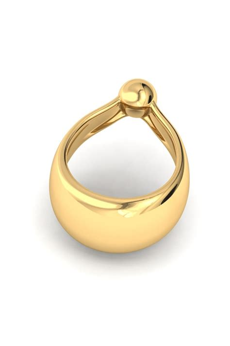 Adonis Ball XL Eichelring, Gold - FANCY RINGS