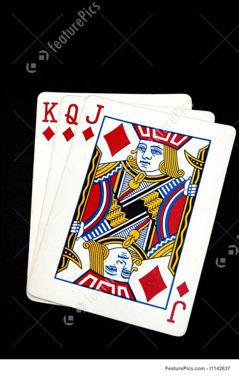 Games And Gambling: King Queen And Jack Of Diamond - Stock