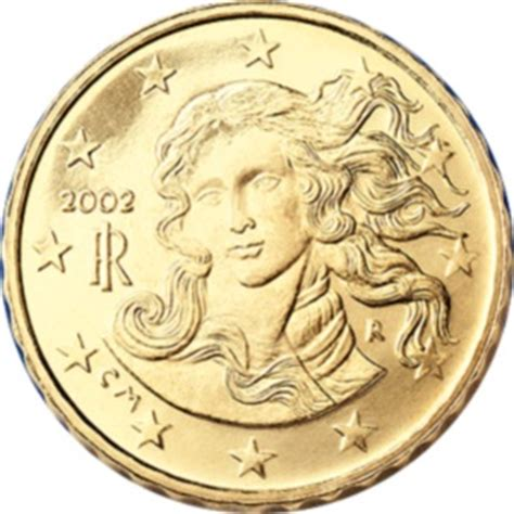Most rare circulation euros from Italy