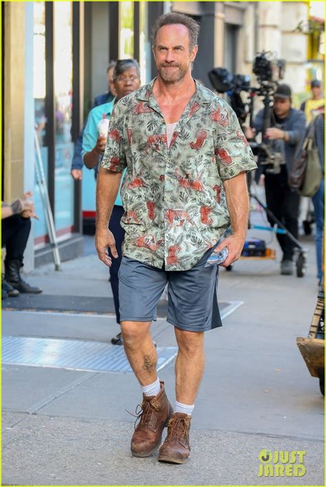 Christopher Meloni Bares His Butt While Pantsless on Set