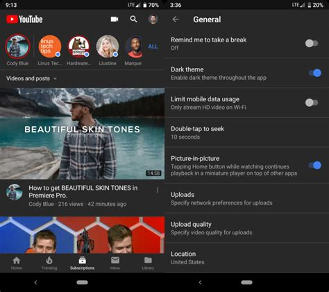 YouTube's dark mode is finally making its way to Android
