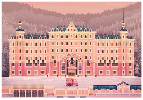 Grand Budapest Hotel by James Gilleard   Design