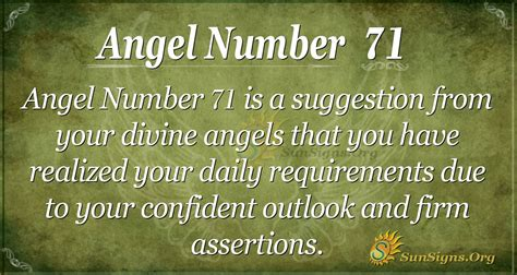 Angel Number 71 Meaning - A Sign Of Thanksgiving