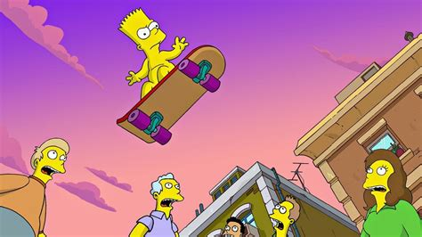 bart simpson is skating flying high hd movies Wallpapers