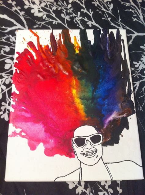 Melted Crayon Portrait · How To Create A Piece Of Melted