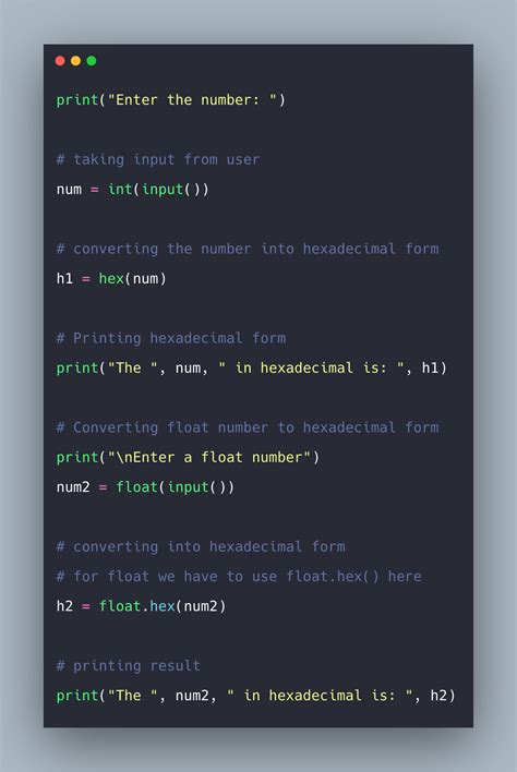 Python Hex Example | Python hex() Function(PSL)