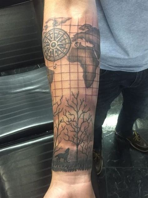 Creative Map Tattoos for the Traveling Type | Map tattoos
