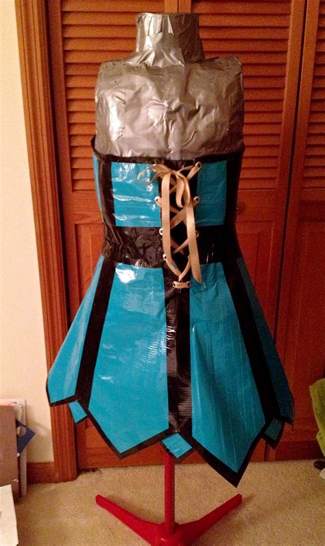 Duct Tape Strapless Corset Dress · A Duct Tape Dress